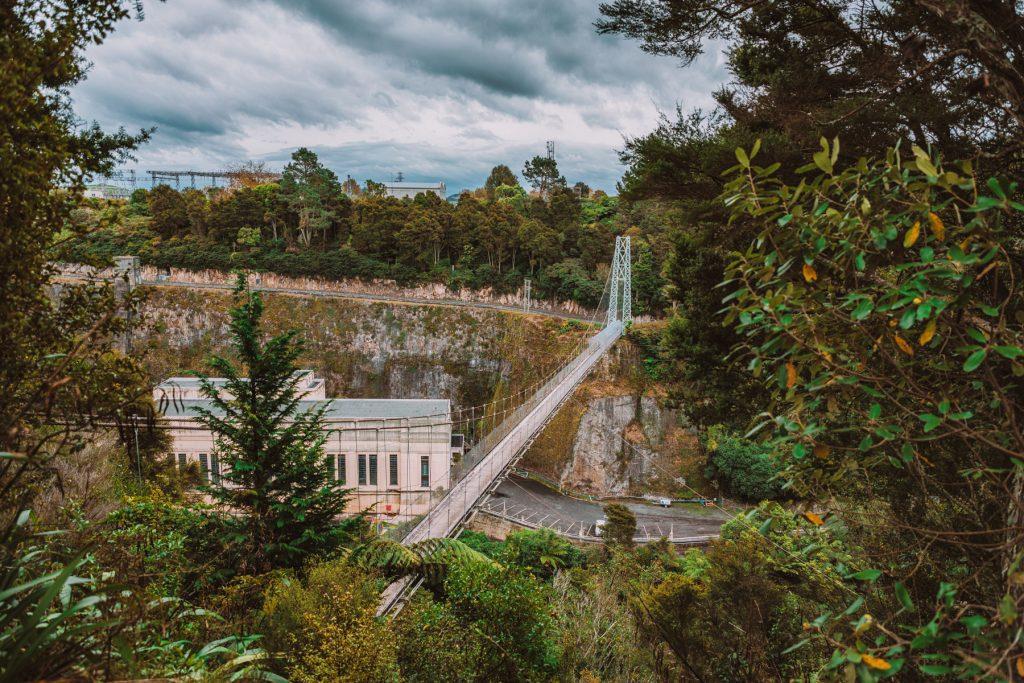 Arapuni suspension bridge, Cambridge, Waikato, New Zealand