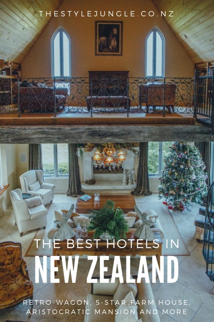 New Zealand boasts great hotels and accommodations: be it a retro-wagon or a luxurious historic mansion, you'll never regret staying there! Here is a list of our favourite and the most unusual accommodations in New Zealand.