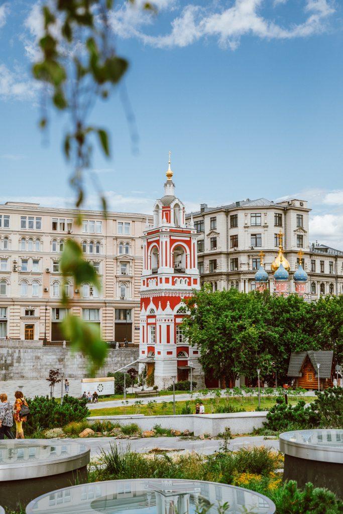 Old church in Zaryadye Moscow