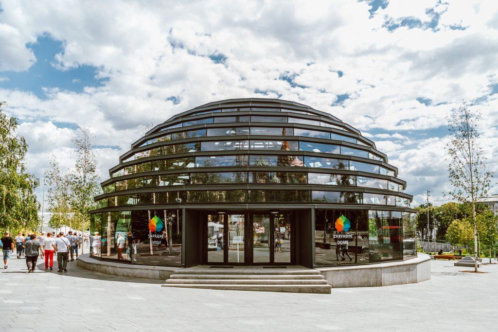 Dome Information Centre in Zaryadye Park
