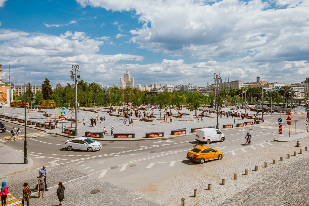 Zaryadye Park in Moscow - view from Red Square