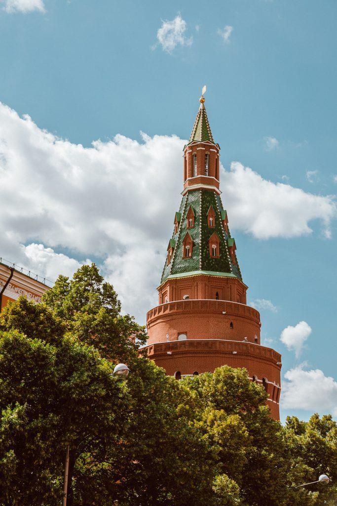 Corner Arsenalnaya Tower Moscow Kremlin