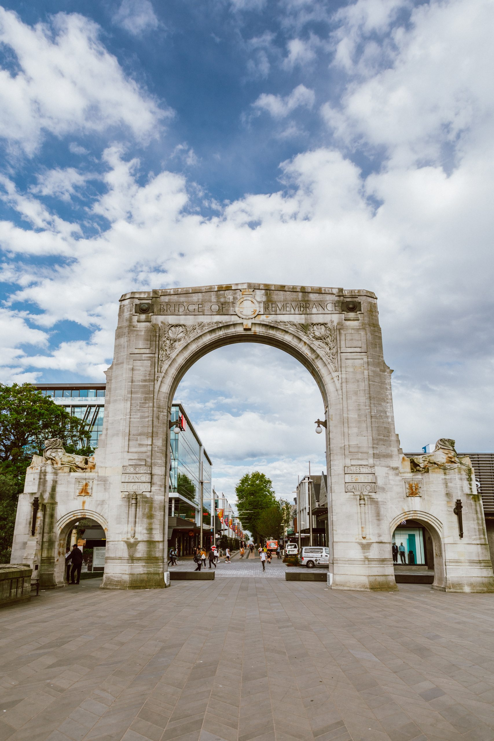 Bridge of Remembrance - Christchurch attractions