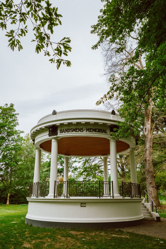 The Bandsmen's Memorial Rotunda in Christchurch Botanic Gardens