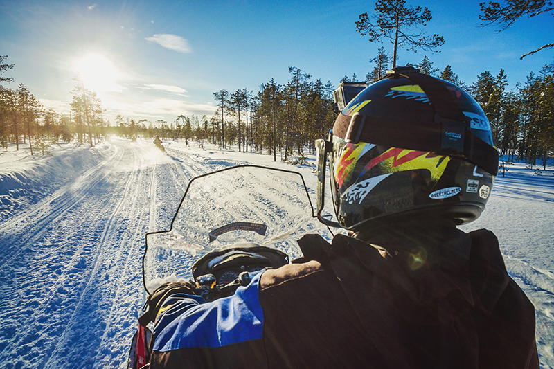 Levi_Lapland_Finland_snowmobiling_snowmobile_forest_snow_winter_activities